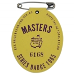 1965 Masters Tournament SERIES Badge #6168