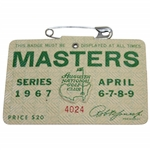 1967 Masters Tournament SERIES Badge #4024