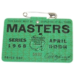 1968 Masters Tournament SERIES Badge #5932