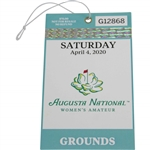 2020 Augusta National Womens Amateur Saturday April 4th Ticket #G12868 - Canceled Event