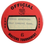 1965 Masters Tournament Official Badge #6 - Excellent Condition - Jack Nicklaus winner