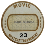 1966 Masters Tournament Official Movie Badge #23 - Jack Nicklaus Winner