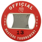 1969 Masters Tournament Official Badge #13