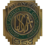 1953 Womens US Amateur Championship at Rhode Island CC Contestant Badge