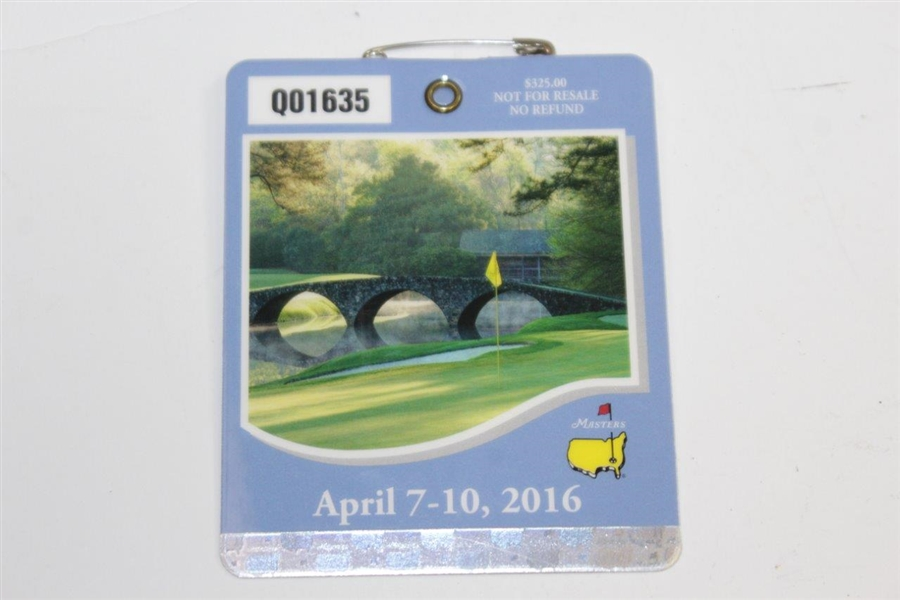 2016 Masters Embroidered Flag with SERIES 2016 Masters Badge #Q01635