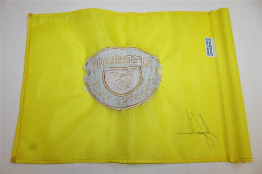 Tiger Woods Signed Medinah Country Club Embroidered Flag JSA ALOA