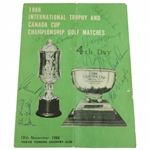 Big 3 Palmer, Nicklaus, & Player with others Signed 1966 Canada Cup Tee Times Booklet JSA ALOA
