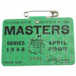 1968 Masters Tournament SERIES Badge #19161 - Bob Goalby Winner