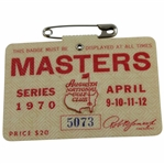 1970 Masters Tournament SERIES Badge #5073 - Billy Casper Winner