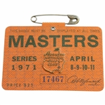 1971 Masters Tournament SERIES Badge #17467 - Charles Coody Winner