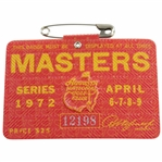1972 Masters Tournament SERIES Badge #12198 - Jack Nicklaus Winner