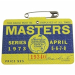 1973 Masters Tournament SERIES Badge #19340 - Tommy Aaron Winner