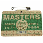 1974 Masters Tournament SERIES Badge #13751 - Gary Player Winner