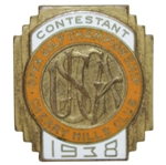 1938 US Open at Cherry Hills Contestant Badge - Ralph Guldahl Win