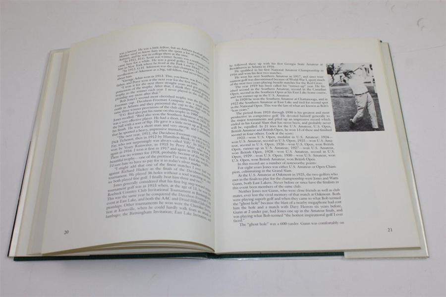 1984 'East Lake Country Club History: Home Course of Bobby Jones' Book by Charles Elliot