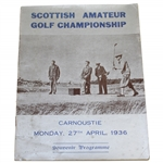 1936 Scottish Amateur Golf Championship at Carnoustie Souvenir Programme