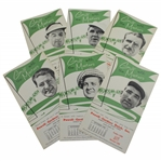 Six (6) 1955 Golf with the Masters Brochures - Demaret, Middlecoff, Mangrum, & others