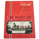 1933 US Open Championship at North Shore GC Program - Johnny Goodman Winner