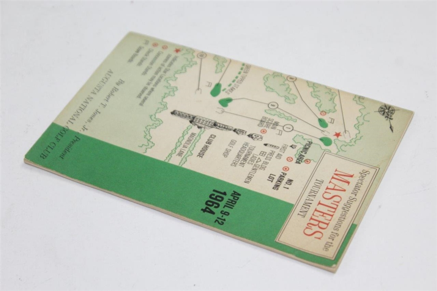 1964 Masters Tournament Spectator Guide - Arnold Palmer Winner