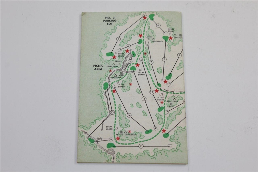 1961 Masters Tournament Spectator Guide - Gary Player Winner