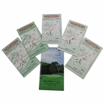 Six (6) Masters Tournament Spectator Guides - 1991-1995 & 2000