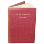 1st Ed 1920 The Art of Putting Book by Willie Park (1887 & 1889 OPEN Champ)