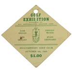 Ben Hogan & Sam Snead Signed 1945 Golf Exhibition at Shaughnessy GC Ticket JSA ALOA