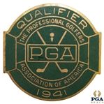 1941 PGA Championship at Cherry Hills CC Contestant Badge - Vic Ghezzi Winner