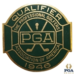 1946 PGA Championship at Portland CC Contestant Badge - Ben Hogan Winner