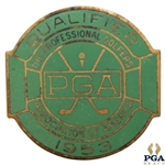 1953 PGA Championship at Birmingham CC Contestant Badge - Walter Burkemo Winner