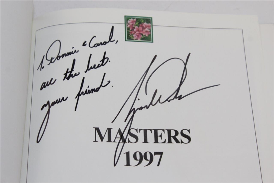 Tiger Woods Signed 1997 Masters Tournament Annual - Personalized JSA ALOA
