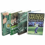 Four (4) Masters/Augusta National Books - Greatest Masters, Masters, One Magical Sunday, & Battle for Augusta National