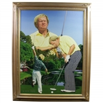 Jack Nicklaus Signed Danny Day Artists Proof 8/25 Giclee on Canvas Painting-Deluxe Frame JSA ALOA