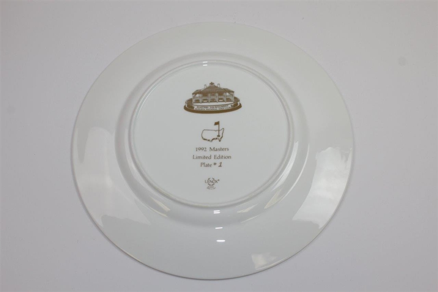 Masters Limited Edition Member Lenox Commemorative Plate #1 - 1992