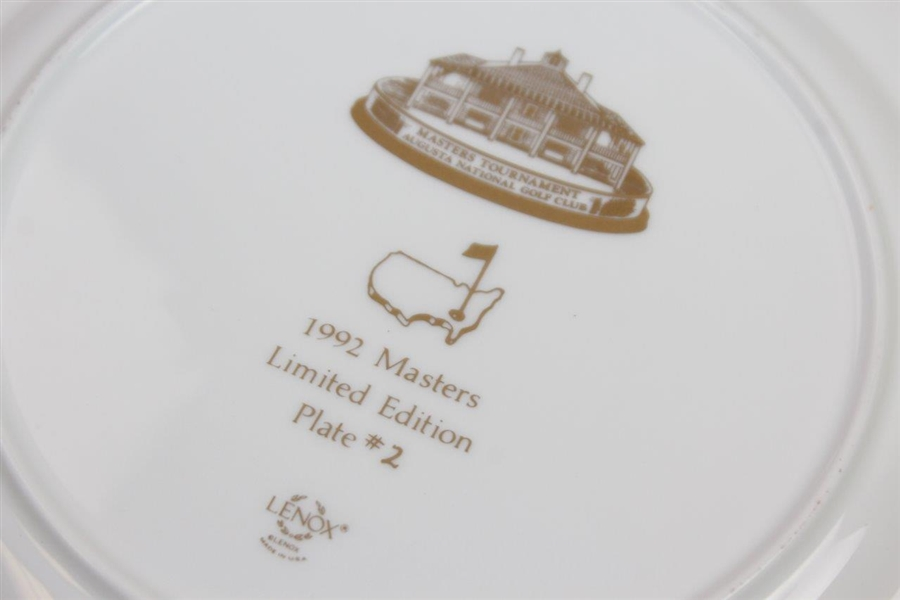 Masters Limited Edition Member Lenox Commemorative Plate #2 - 1992