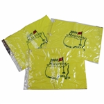 2008, 2009, & 2011 Masters Tournament Embroidered Flags in Original Plastic Sleeves