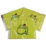 1999, 2000, & 2003 Masters Tournament Embroidered Flags in Original Plastic Sleeves