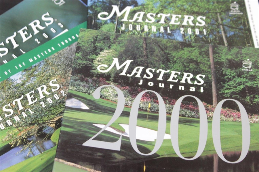 Twenty-Three (23) Masters Tournament Journals - 1990, 1992-2008, & 2012-2016