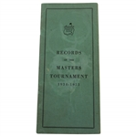 Augusta National Golf Club 1934-1953 Records of The Masters Tournament Booklet
