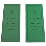 Augusta National Golf Club 1934-1990 & 1934-1992 Records of The Masters Tournament Booklets