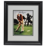 Ben Hogan Signed Double Matted 8x10 Photo - Hitting Driver at Colonial Oaks - Framed JSA ALOA