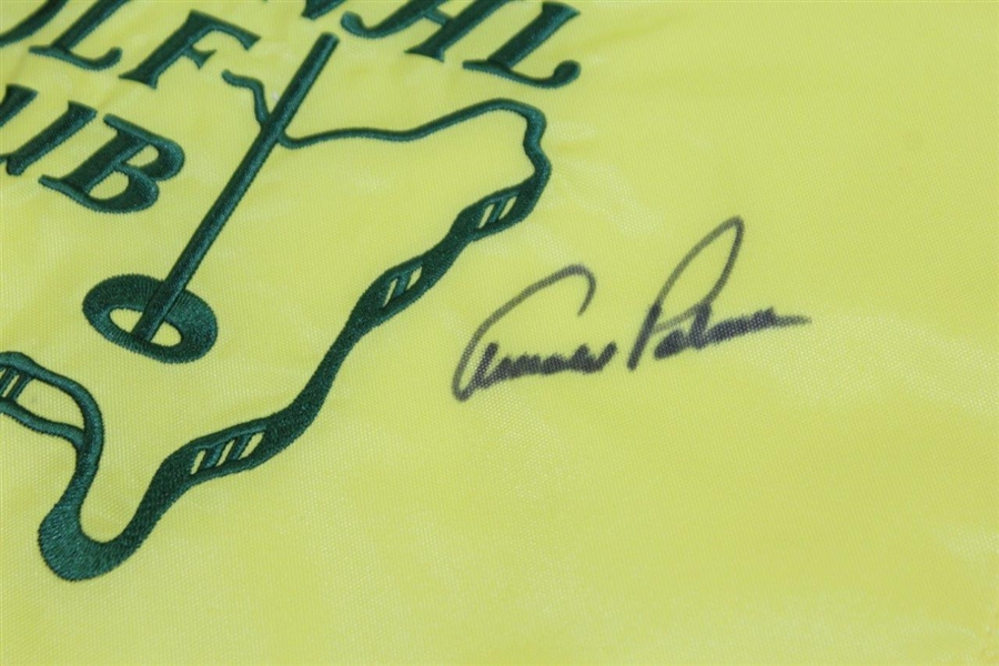 Arnold Palmer Signed Augusta National Golf Club Member Only Embroidered Flag JSA ALOA