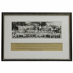 Horton Smiths Personal Copy of the 1934 Masters Tournament Field Photo - Framed