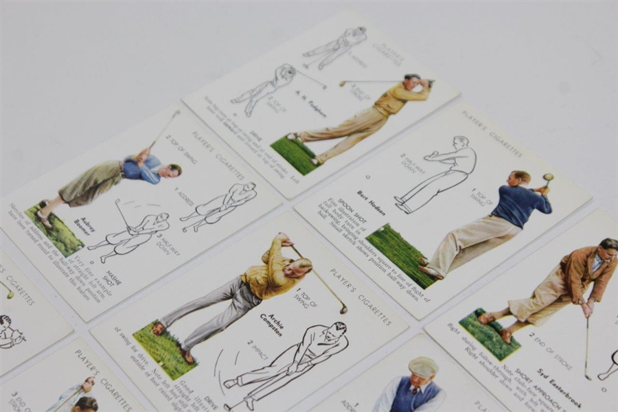 1939 Player's Cigarettes Complete Set of Twenty-Five (25) Golf Cards - Great Condition