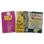 Lot of 3 Louise Suggs Signed Golf Books