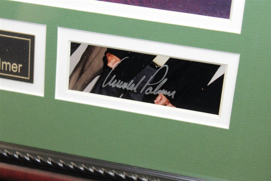 Arnold Palmer & Jack Nicklaus Signed Cuts with 'Friends for Life' Photo Display - Framed JSA ALOA