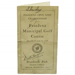 Walter Hagen Twice Signed 1929 Pasadena Municipal GC Scorecard with Permit & Pairing Card JSA ALOA