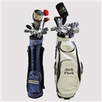 Jack Flecks Personal Bags of Clubs w/ Two Signed Classic Wedges - 55 US Open Champ JSA ALOA