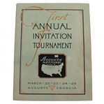 1934 Augusta National Invitation Tournament Program (First Masters) - New Find Sourced From Original Member!