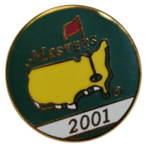 2001 Masters Tournament Employee Pin - Tiger Woods Winner